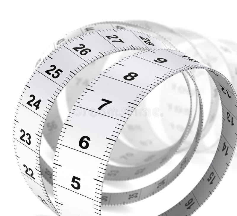 重量关心背景-卷尺 向量例证