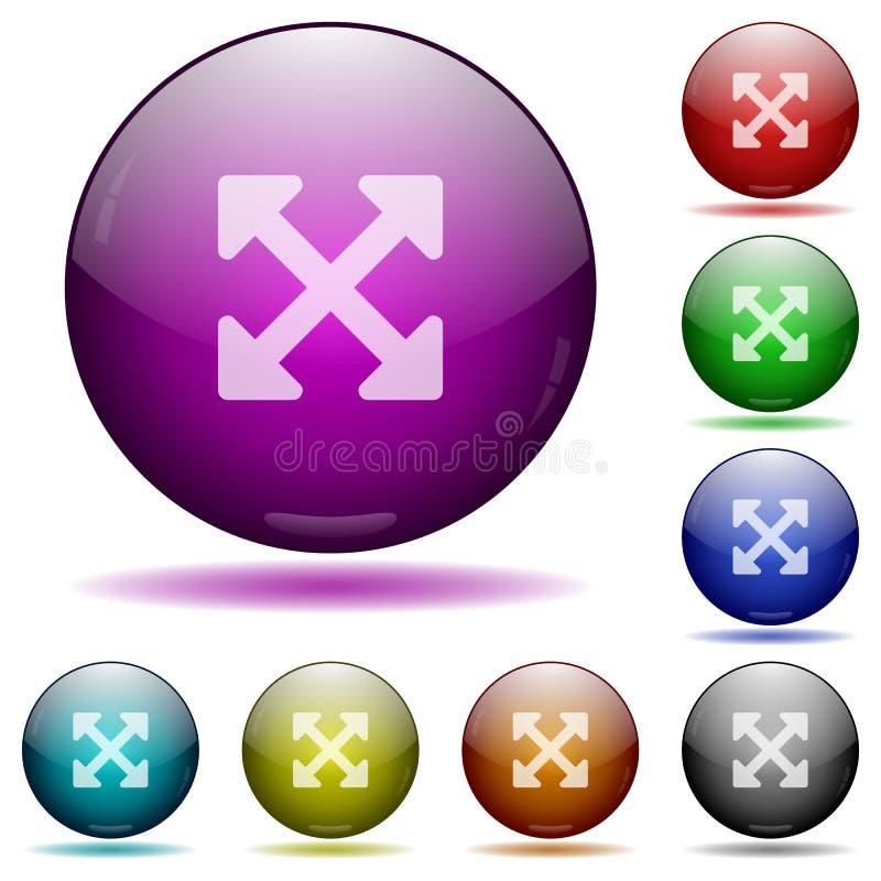 重量尺寸充分的alt玻璃球形按钮 皇族释放例证