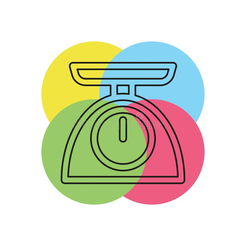 重量标度象-平衡标度象 向量例证