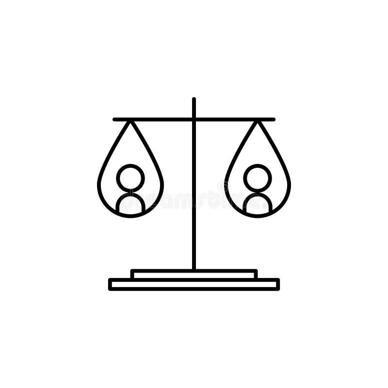 重量象的平等 和平象的元素流动概念和网apps的 稀薄的线重量象平等可以是半新fo 向量例证