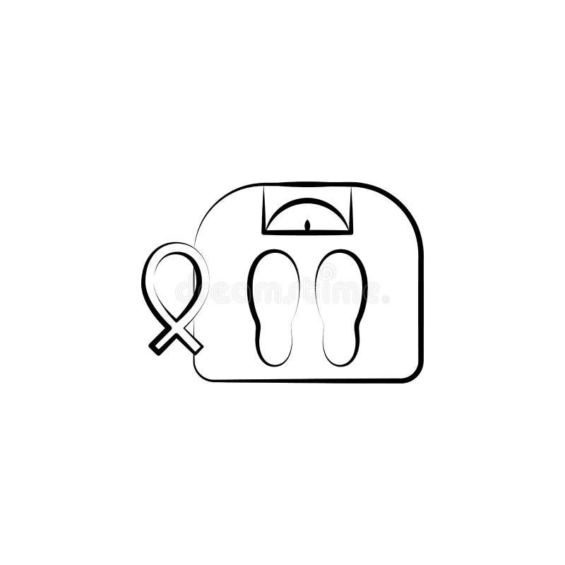 重量,妇女,身体标度手拉的象 其中一个网站的妇女健康象,网络设计,流动应用程序 库存例证
