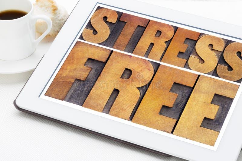 重音在木类型释放 免版税库存照片
