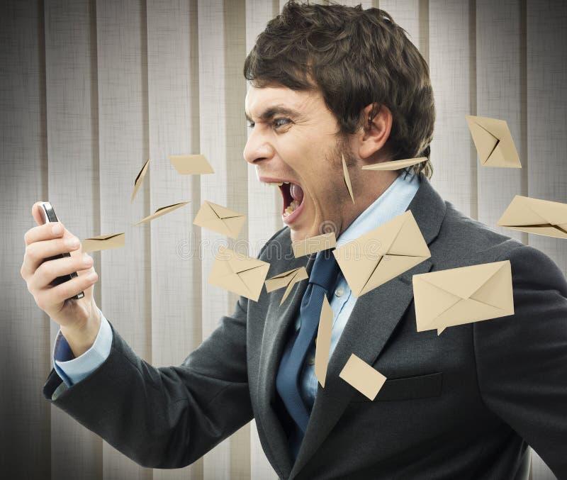 重音工作邮件 免版税库存图片