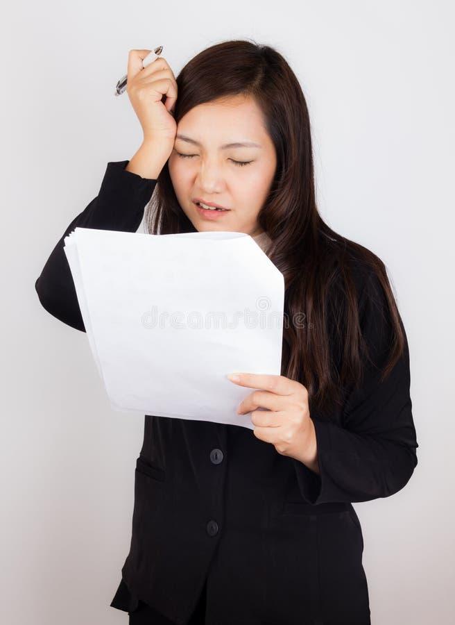 重音的女实业家 免版税库存照片