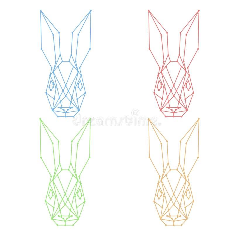 野兔几何商标 库存例证