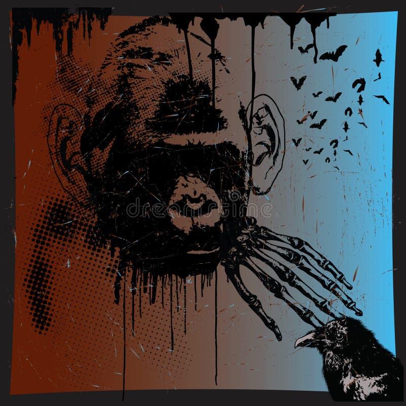 野兽猴子 库存例证