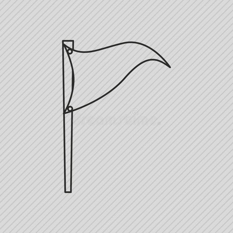 野外演习日象设计 库存例证