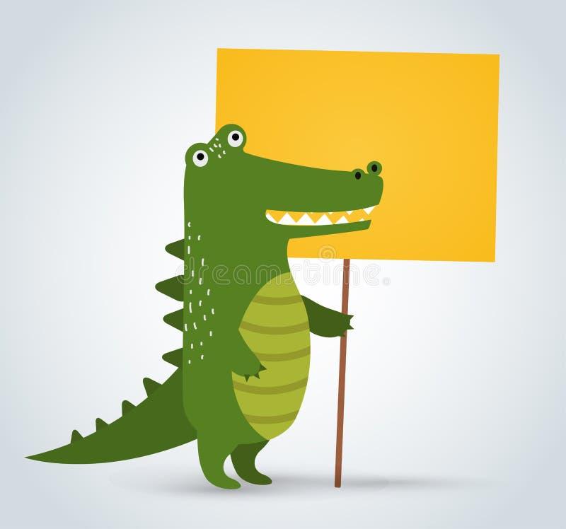 野生动物动物园鳄鱼干净藏品的罢工 皇族释放例证