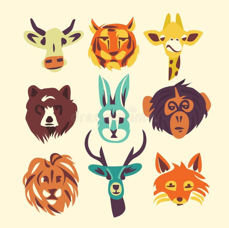 野生动物,传染媒介例证,象集合 库存例证