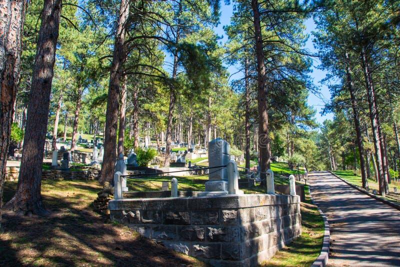 野生比尔Hickock被埋葬的公墓 免版税库存图片