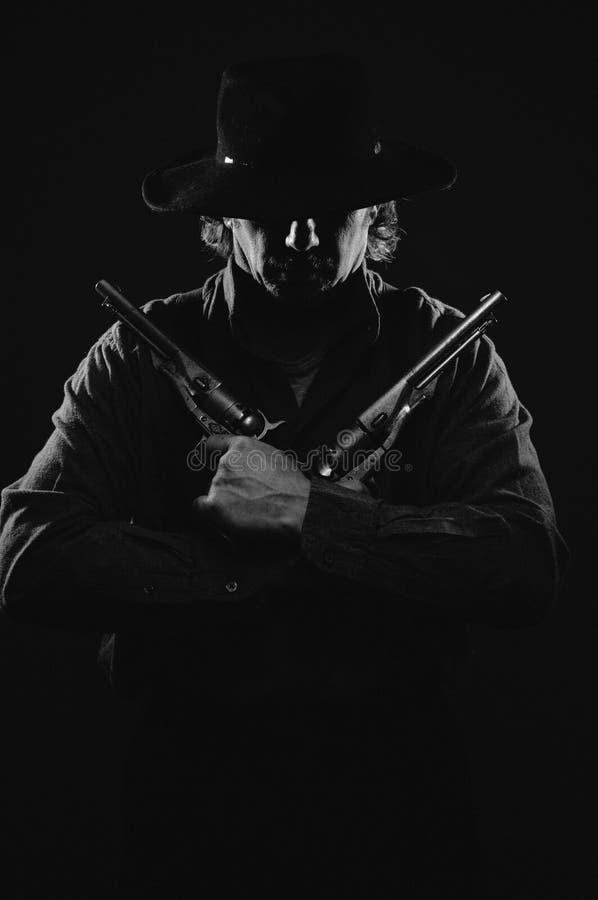 野生西部枪手 免版税库存图片