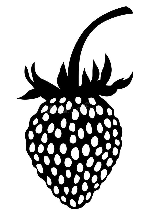 野草莓剪影象 皇族释放例证