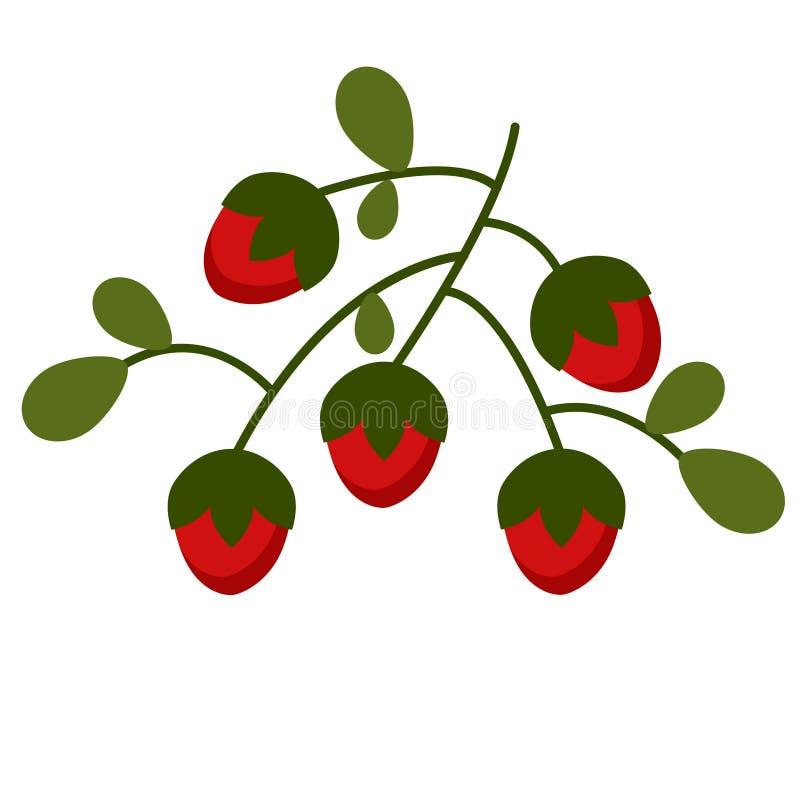 野草莓平的例证 皇族释放例证