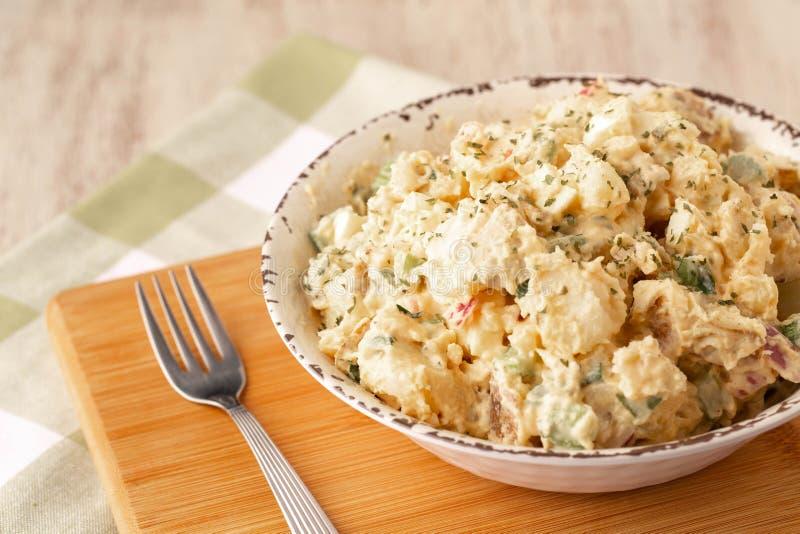 野菜马铃薯沙拉 库存图片