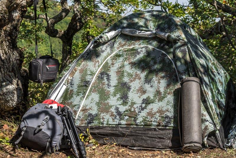 野营与帐篷 库存照片