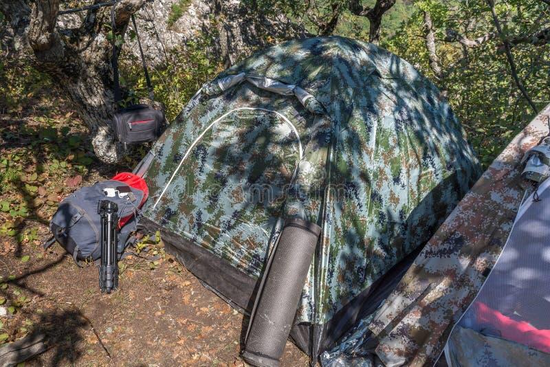 野营与帐篷 库存图片