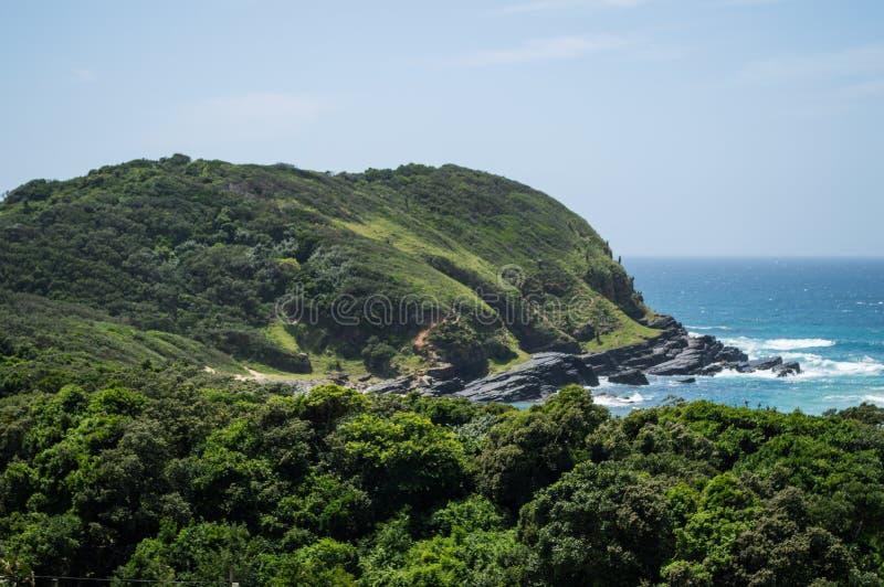 野营咖啡的海湾,东开普省,南非 免版税库存照片