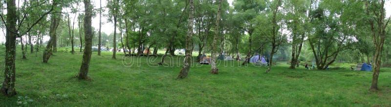 野营在九个夫人 免版税库存图片
