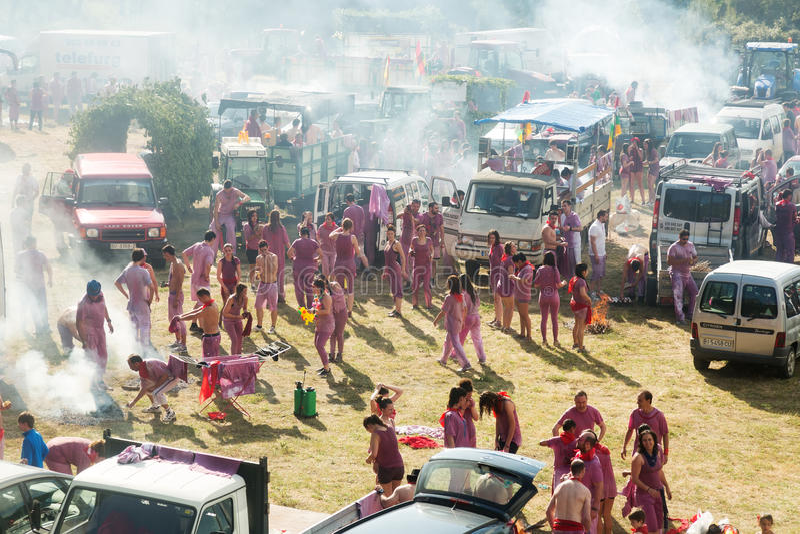 野营在哈罗酒节festiva以后 免版税库存图片