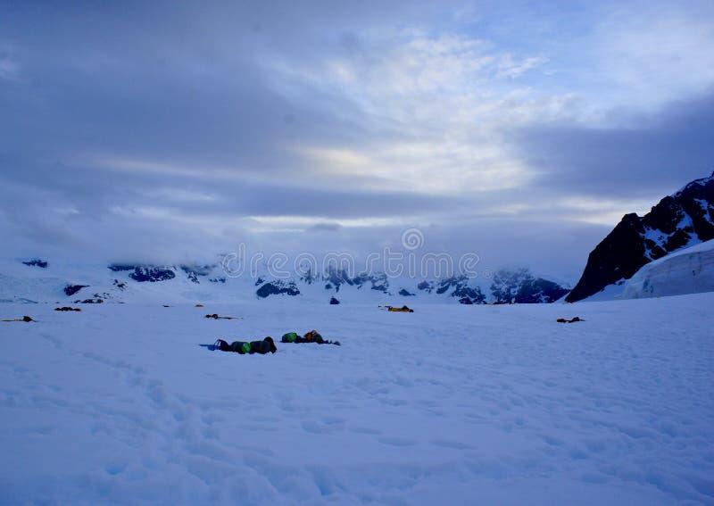 野营在第7个大陆 图库摄影