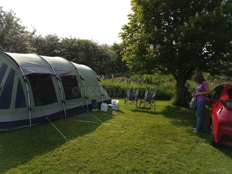 野营在英国 库存照片