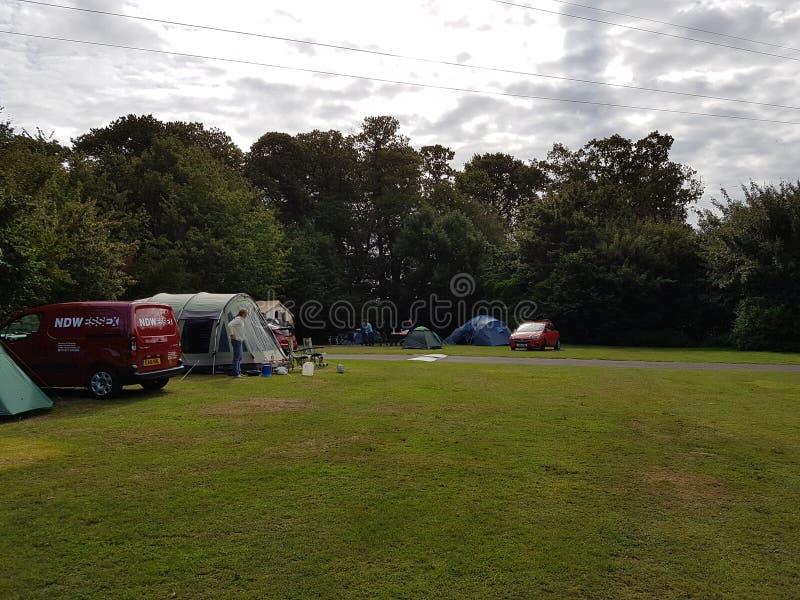 野营在英国 免版税库存图片