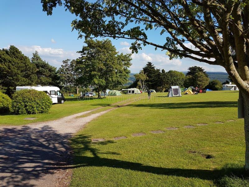 野营在英国 免版税图库摄影