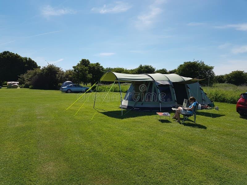野营在英国 图库摄影