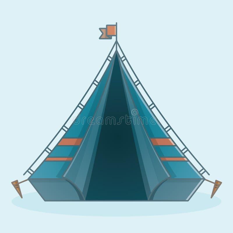 野营的冒险旅行帐篷象 库存例证