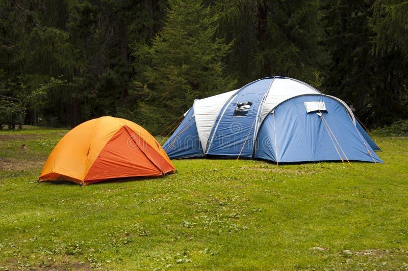 野营的帐篷 库存图片
