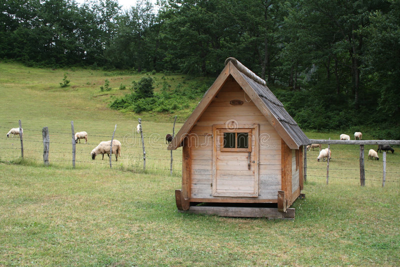 野营的房子 图库摄影