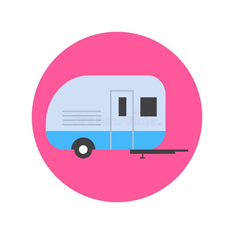 野营的拖车象运输旅行概念 向量例证
