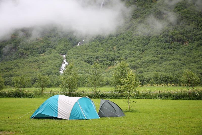 野营的挪威 库存图片