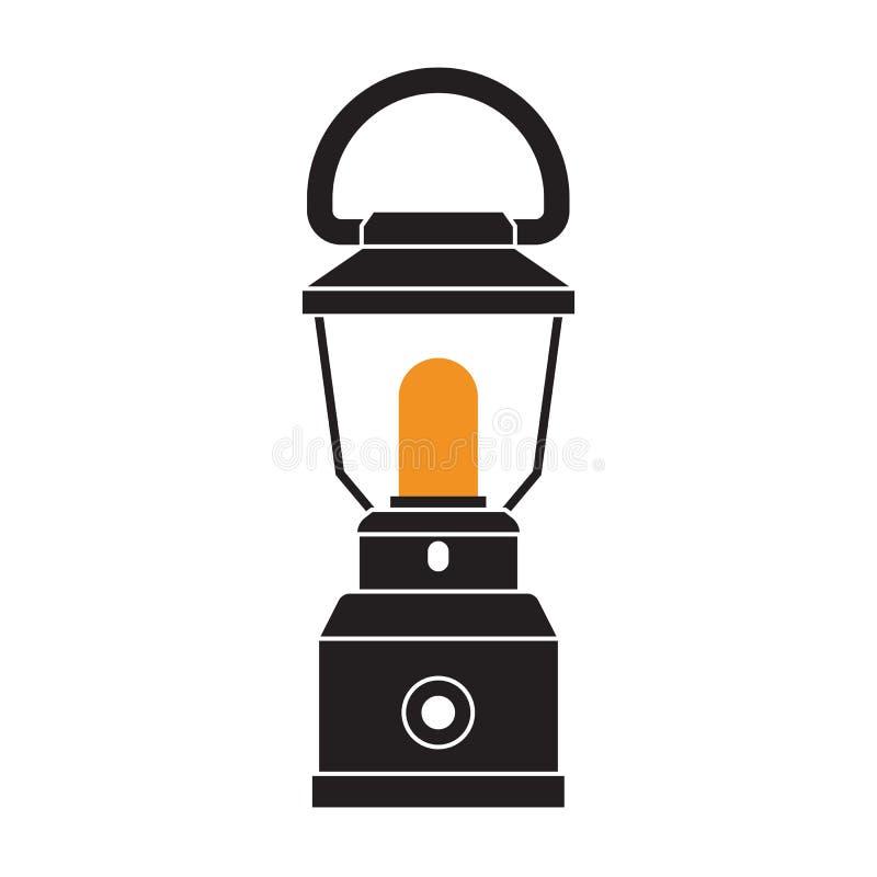 野营的灯笼或煤气灯 库存例证