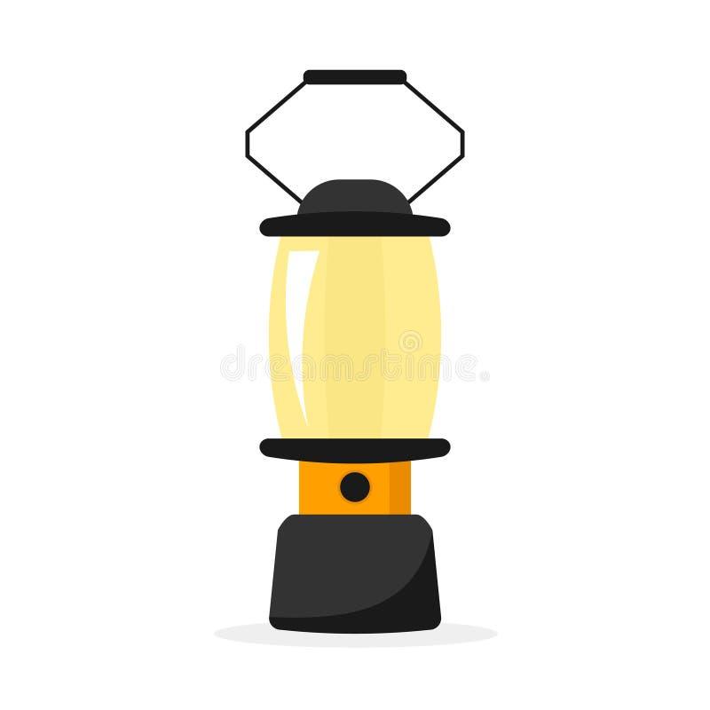 野营的灯笼象 向量例证
