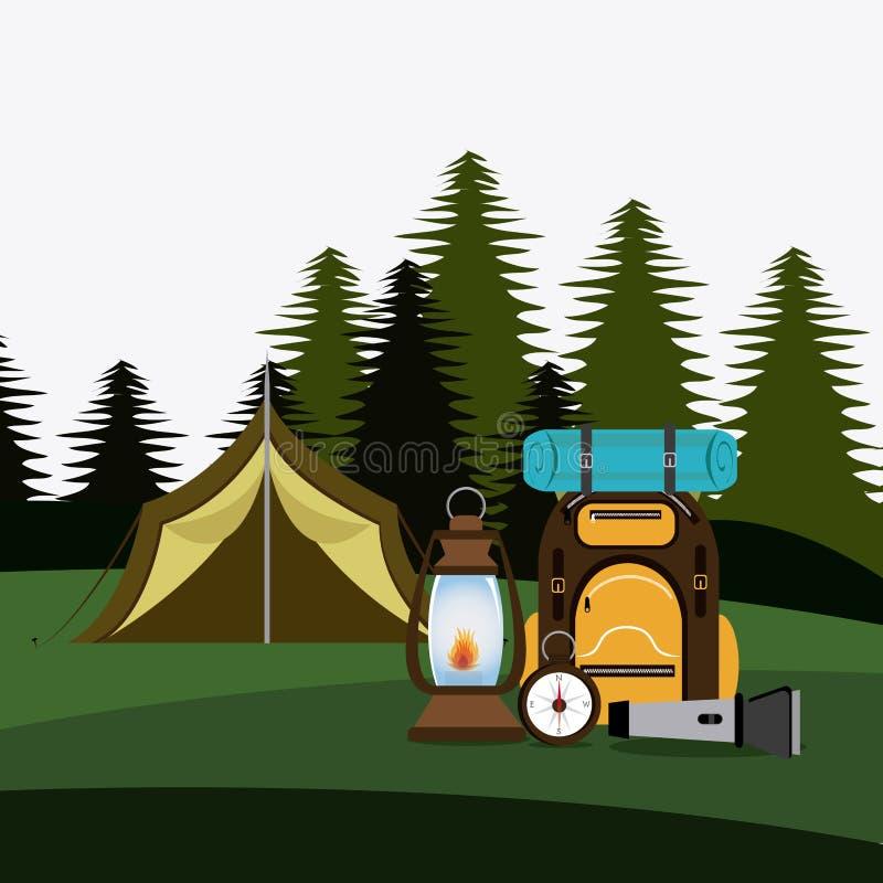 野营的设计 库存例证