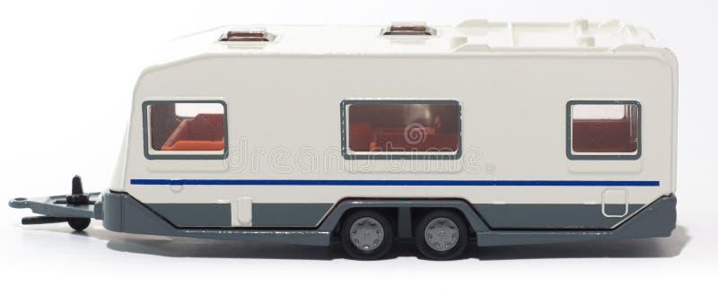 野营车玩具拖车 库存图片