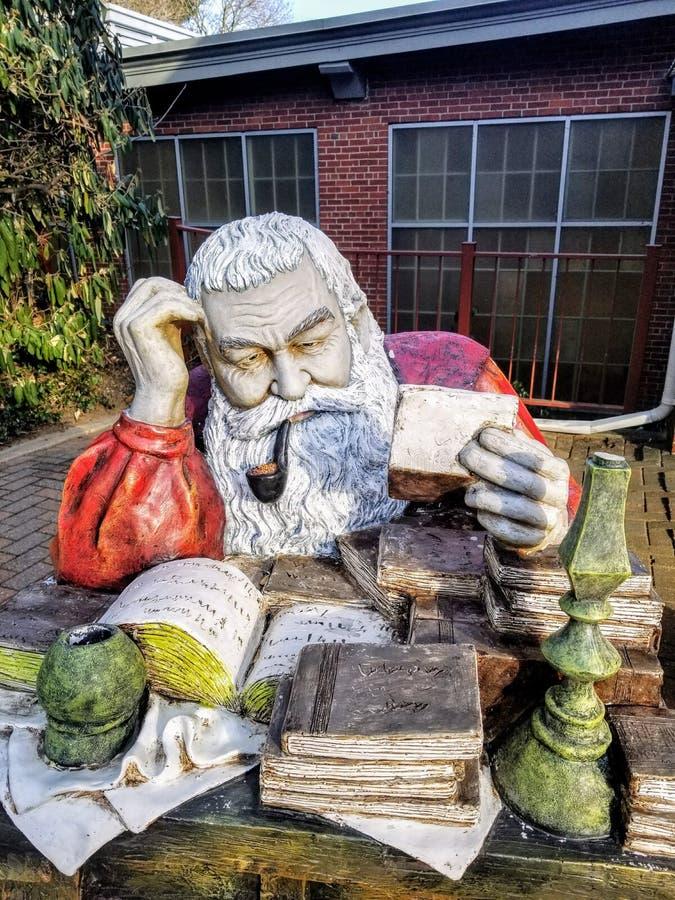 野蛮磨房的圣诞老人 免版税库存照片