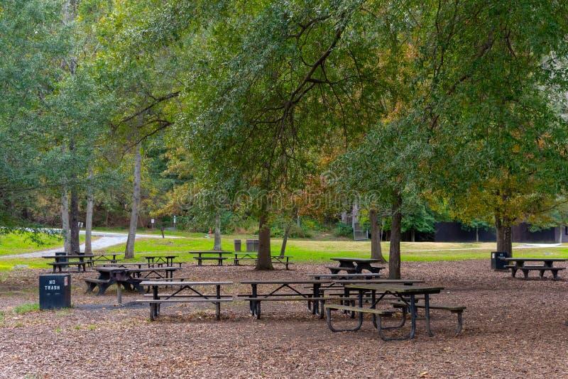 野餐区在伟大的秋天国立公园 免版税图库摄影