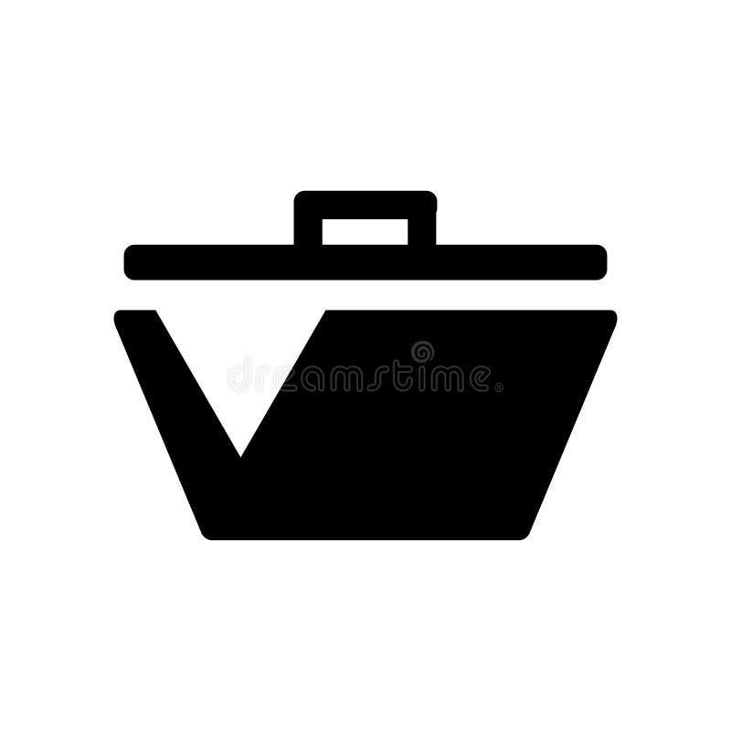野餐在白色背景隔绝的象传染媒介,去野餐标志,食物标志 皇族释放例证