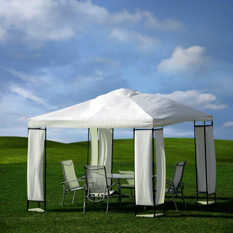 野餐帐篷 库存照片