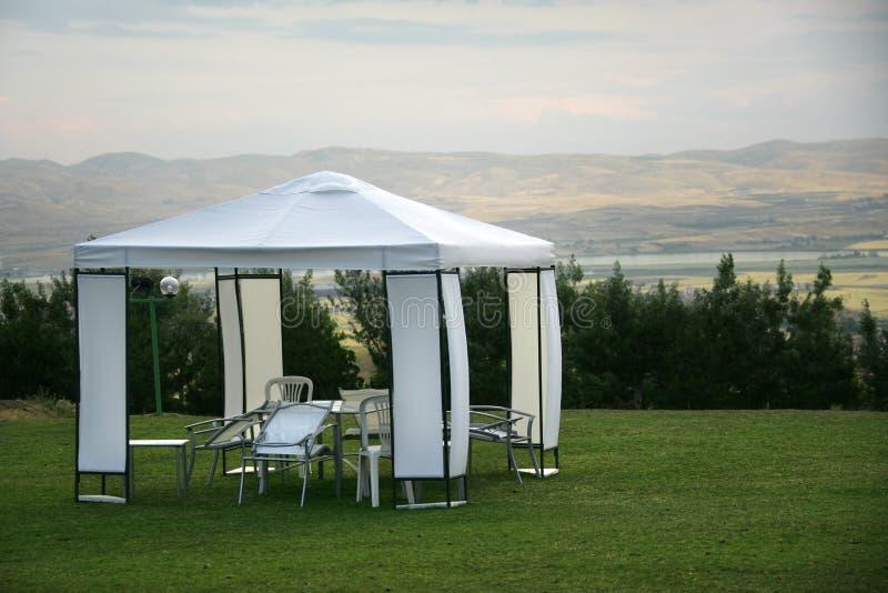 野餐帐篷 免版税库存图片