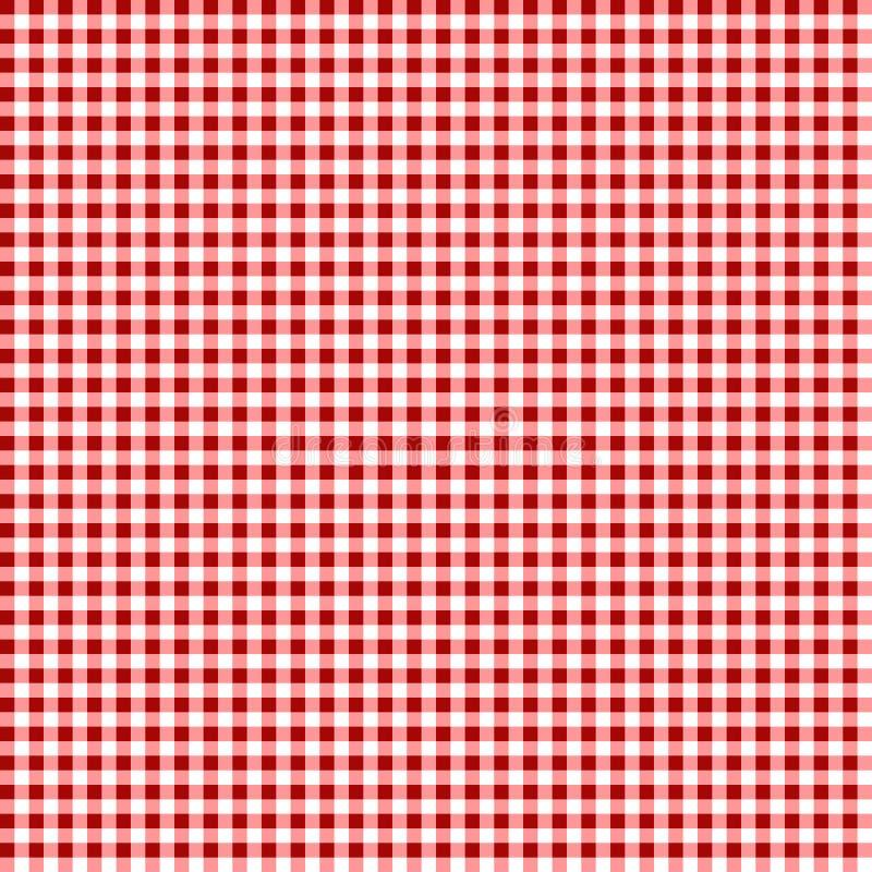 野餐桌布料 无缝的方格的传染媒介样式 葡萄酒颜色格子花呢披肩织品纹理 向量例证