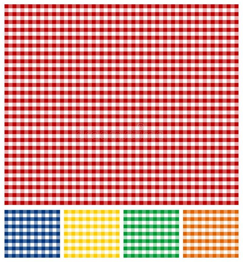 野餐桌布纹理 向量例证