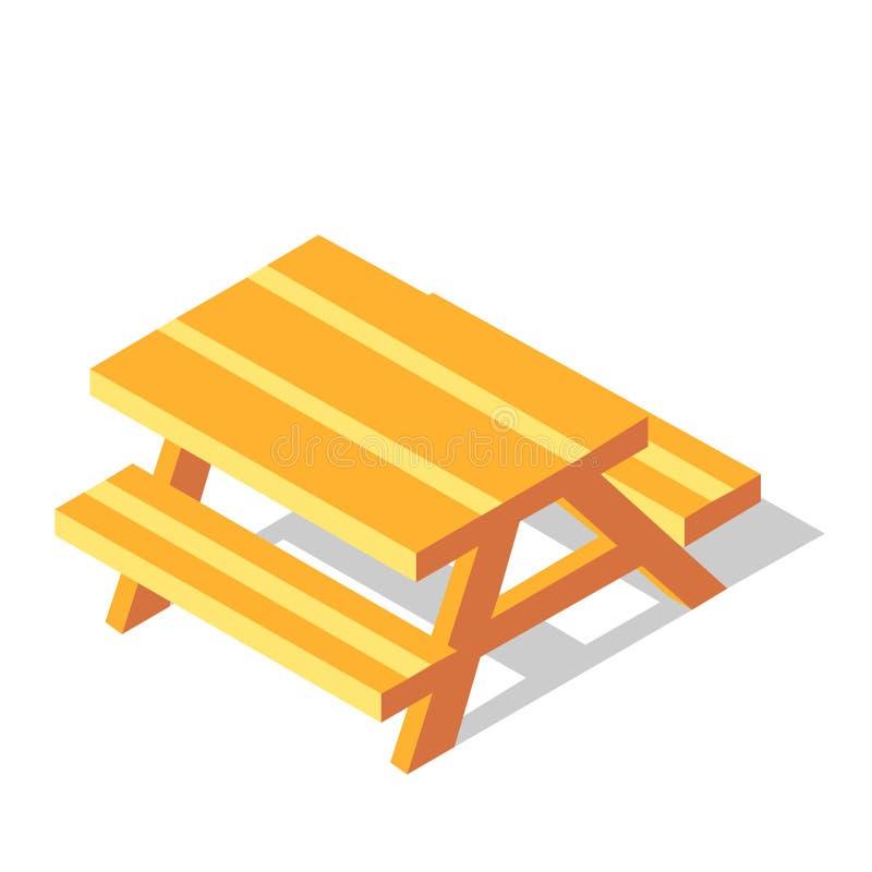 野餐桌等量例证 库存例证