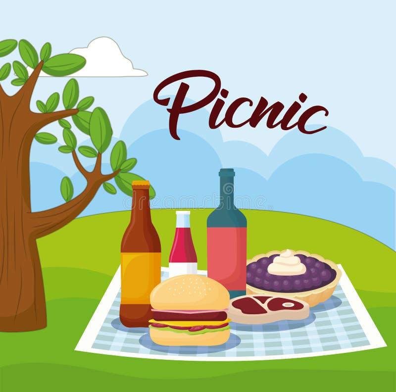 插画 包括有 存贮, 番茄酱, 对象, 云彩, 野营, 可移植, 大面包图片