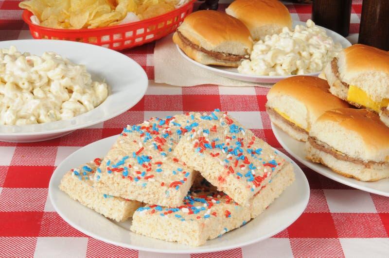野餐食物 免版税库存图片