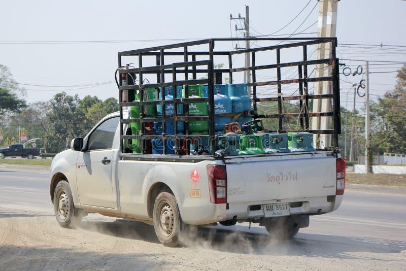 野餐(兰花)气体气体卡车  免版税图库摄影