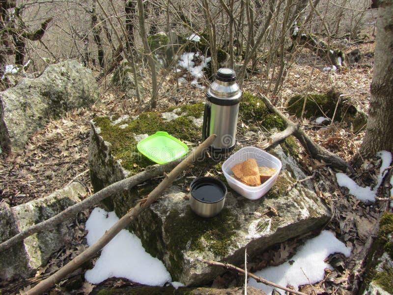 Download 野餐 库存图片. 图片 包括有 森林, 野餐, 热水瓶, 其它, 冬天, 食物, 膳食, 2月, 木头, 午餐 - 72362813