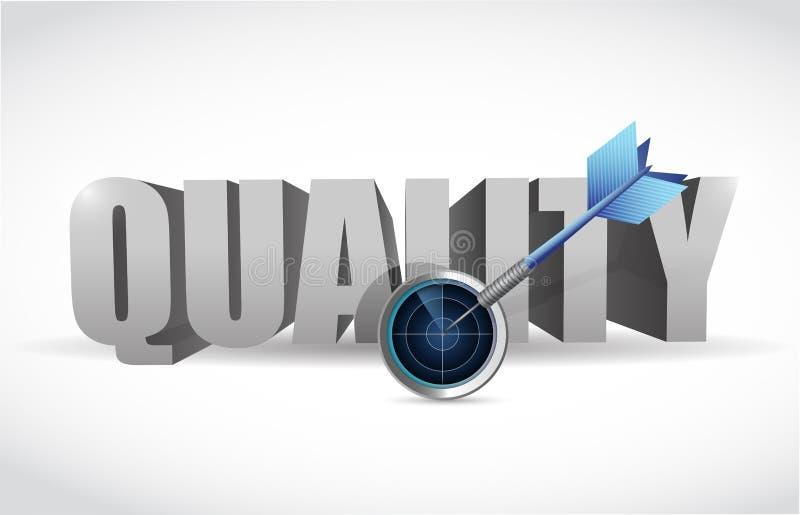 质量和雷达目标例证设计 库存例证